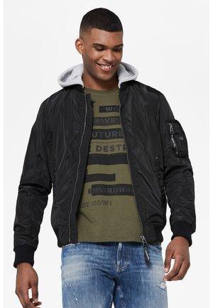 NASH-VILLE  MIT KAPUZE - Bomber Jacket - black