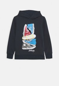 Converse - STACKED REMIX PULL OVER - Hoodie - obsidian - 0
