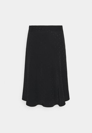 DRAPY STELLY  - A-line skirt - black