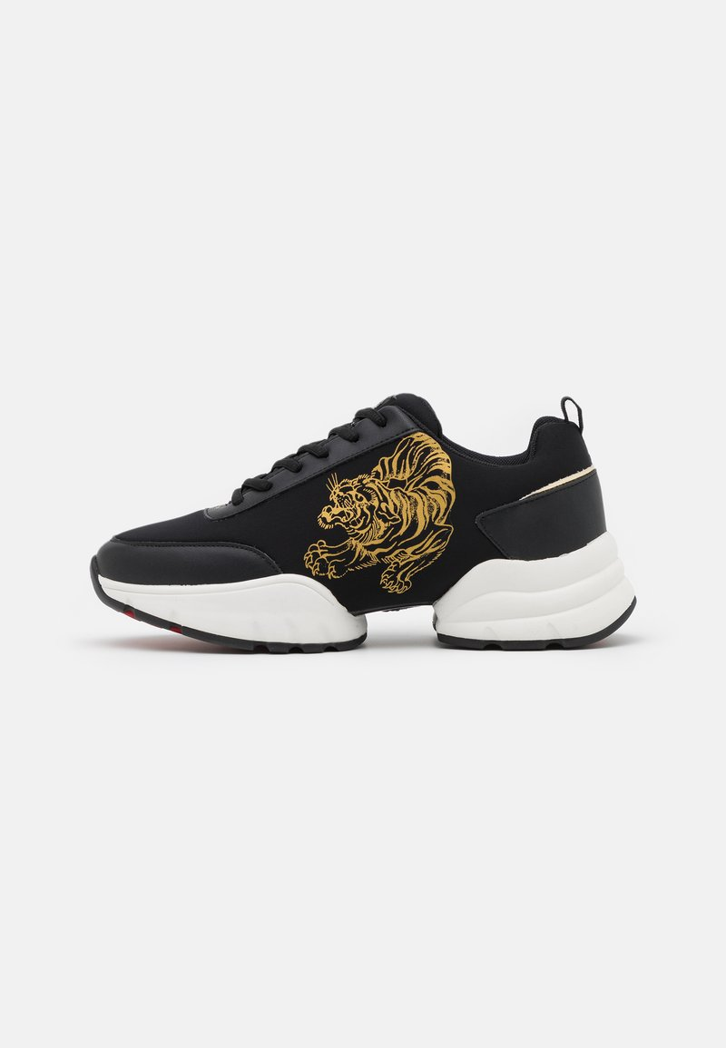 Ed Hardy - CAGED RUNNER TIGER - Trainers - black/gold