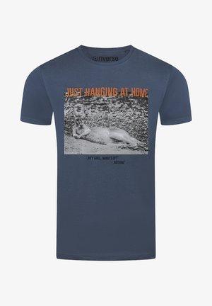 RIVLUKAS - Print T-shirt - blau (ajd)