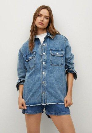 Button-down blouse - azul medio