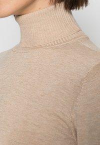 Culture - ANNEMARIE ROLL NECK - Jumper - warm sand melange - 4