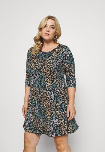 SWING DRESS - Jersey dress - black