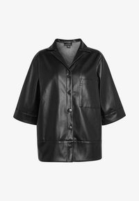 Monki - DALE BLOUSE - Button-down blouse - black - 4