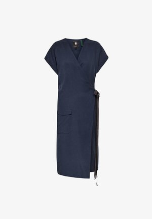WRAP - Day dress - sartho blue