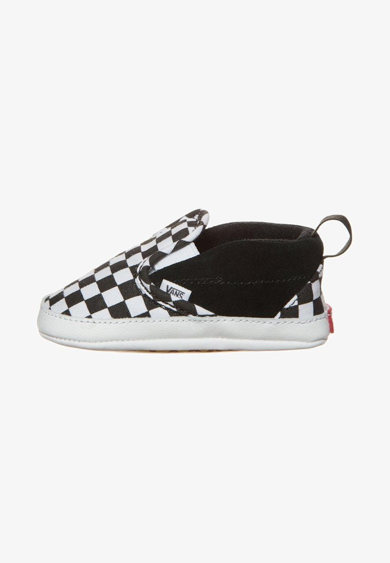 Vans - SLIP-ON V CRIB - First shoes - black/true white