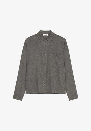 MIT GERAFFTER RÜCKENPARTIE - Button-down blouse - deep stone melange