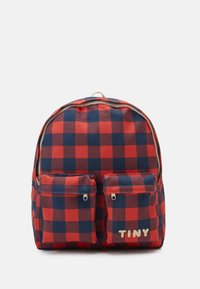 TINYCOTTONS - CHECK BIG BACKPACK - Mochila - navy/red - 0