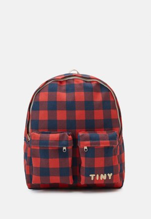 CHECK BIG BACKPACK - Rucksack - navy/red