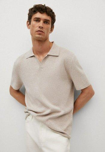 FLUIDE LIN - Polo shirt - beige