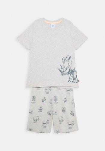 MINI PYJAMA SHORT - Pyjama set - light platin meliert