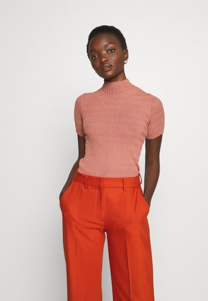 KNIT TOP - T-shirts - old pink
