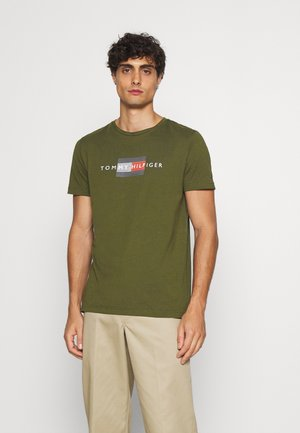 LINES TEE - T-shirt imprimé - olivewood