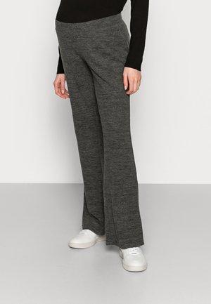 PCMPAM FLARED PANT - Trousers - dark grey melange