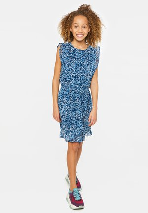 WE FASHION MEISJES JURK MET GLITTERDETAILS - Day dress - dark blue
