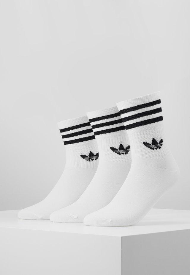 MID CUT 3 PACK - Socks - white/black