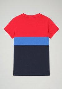 Napapijri - SALOY COLOUR BLOCK - Print T-shirt - blu marine - 1