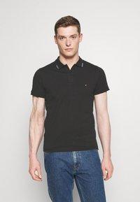 Tommy Hilfiger - COLLAR - Polo shirt - black - 0