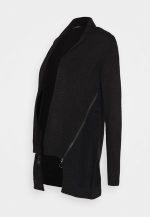 CARDIGAN ZIP - Gilet - black