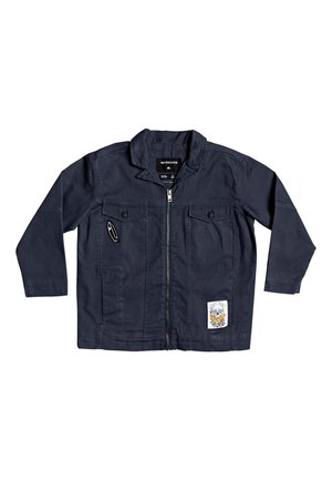QUIKSILVER™ CURIO SHIZU - JACKE MIT REISSVERSCHLUSS UND ÜBERSCHNI - Denim jacket - blue nights