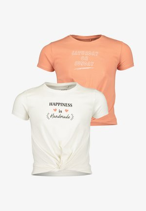 MD T-SHIRT, RH - 2ER PACK - T-Shirt print - offwhite + ginger