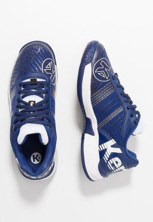 ATTACK CONTENDER JUNIOR CAUTION - Handball shoes - midnight blue/white