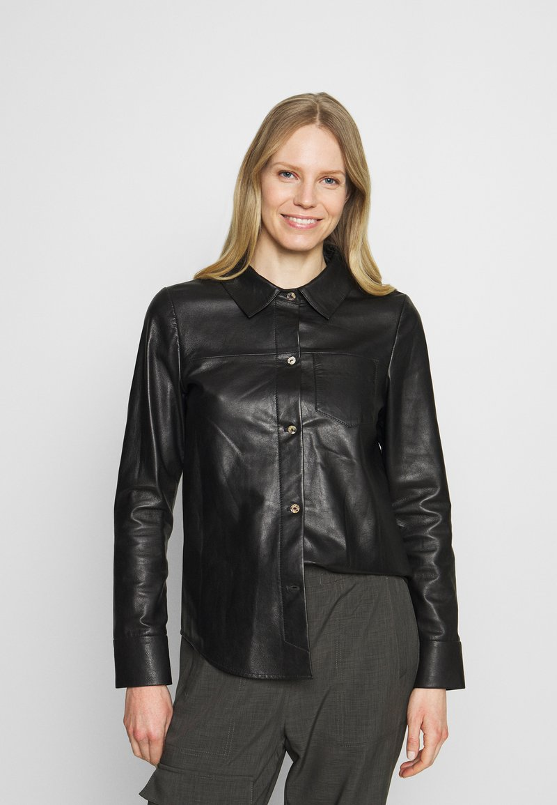 Oakwood - ANAE - Leather jacket - black