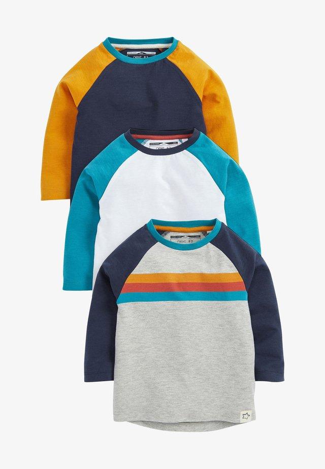 3 PACK  - Top sdlouhým rukávem - blue