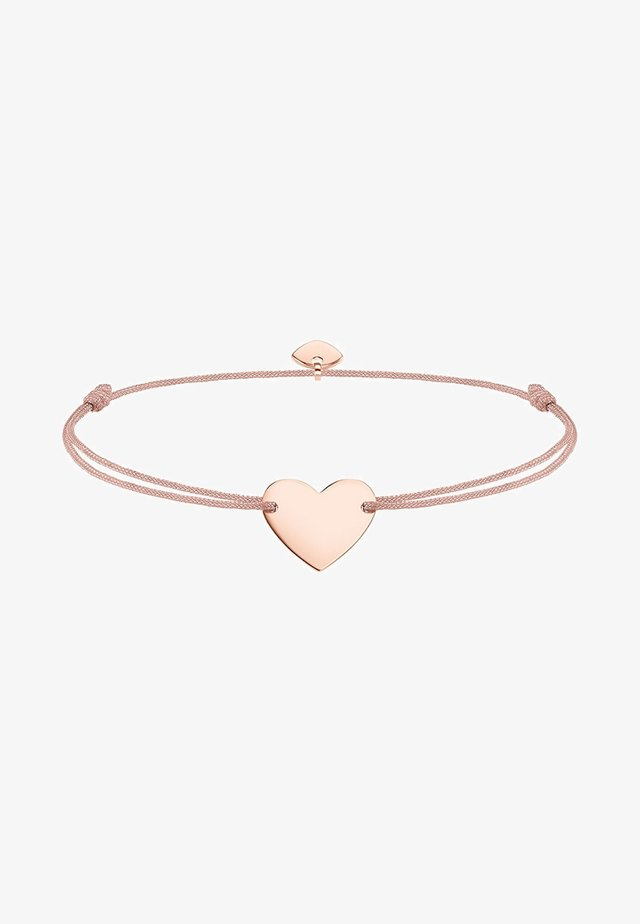 LITTLE SECRET HERZ - Armband - rosegold-coloured/beige