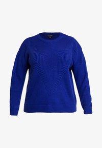 Dorothy Perkins Curve - LEAD IN STITCH - Stickad tröja - cobalt - 3