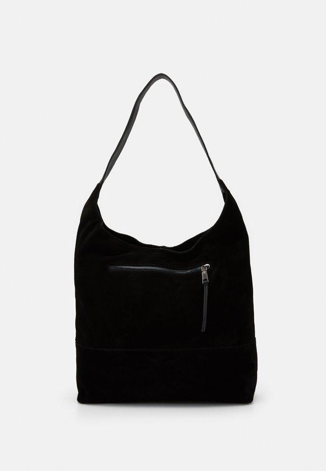LEATHER - Handbag - black