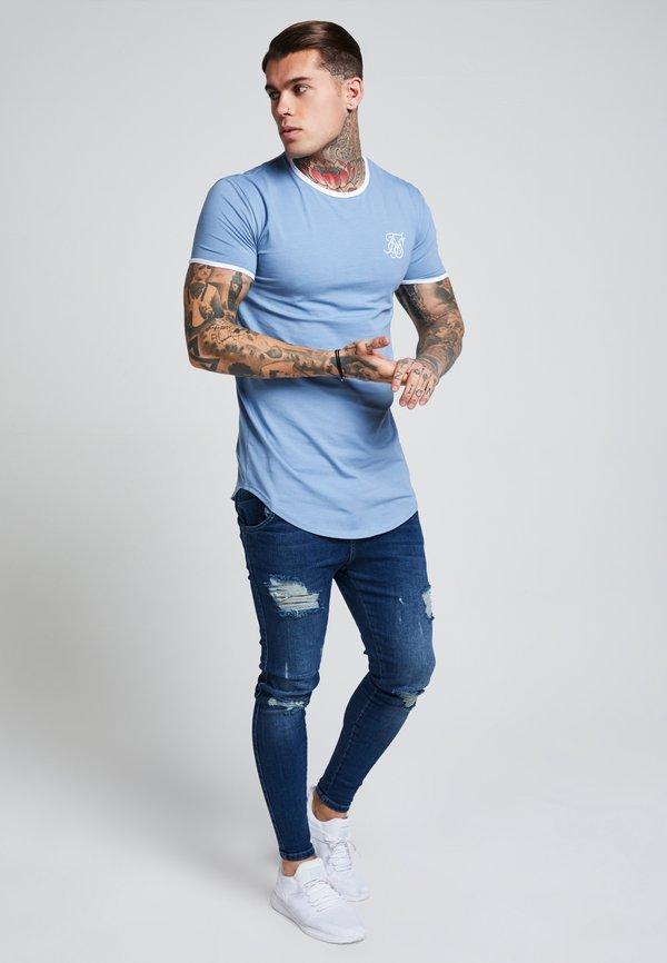 SIKSILK SIKSILK SKINNY DISTRESSED - Jeansy Skinny Fit - blue/niebieski Odzież Męska XSMY