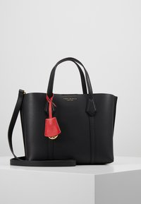 Tory Burch - PERRY SMALL TRIPLE COMPARTMENT TOTE - Kabelka - black - 0