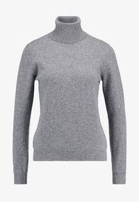 Benetton - TURTLE NECK - Sweter - mid grey - 4