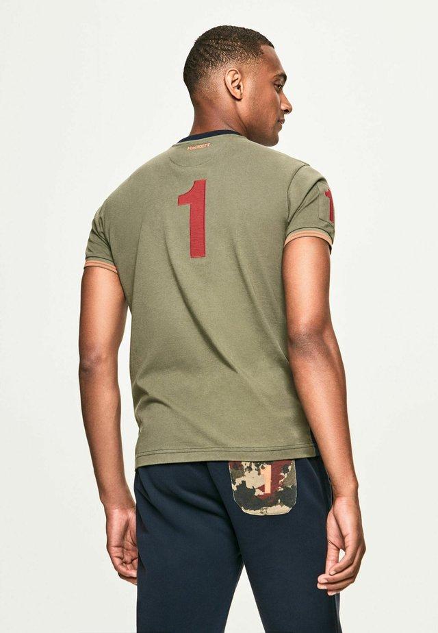 ARMY - T-shirt imprimé - navy/olive