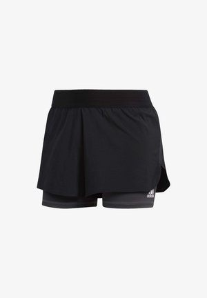 ALPHASKIN TWO-IN-ONE SHORTS - Sports shorts - black