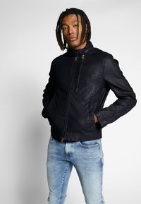 G-Star - BIKER DENIM  - Veste en jean - pintt mazarine superstretch - 0