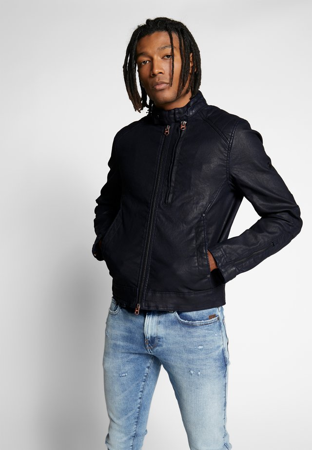 BIKER DENIM  - Denim jacket - pintt mazarine superstretch