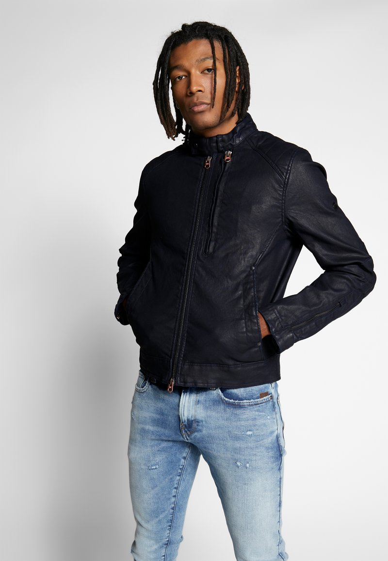 G-Star - BIKER DENIM  - Veste en jean - pintt mazarine superstretch