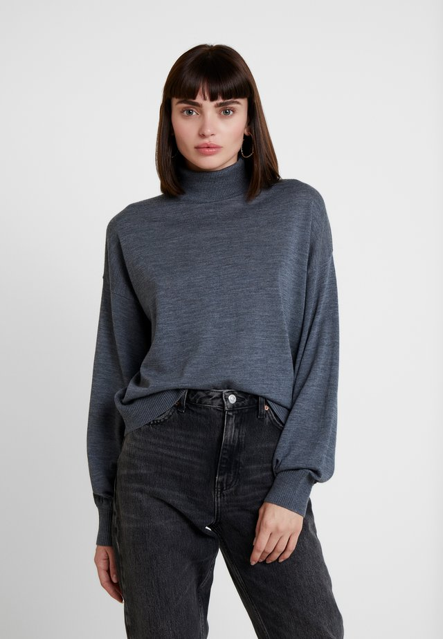 KLEO TURTLENECK - Sweter - dark grey