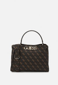 Guess - UPTOWN CHIC TURNLOCK SATCHEL - Håndveske - brown - 0