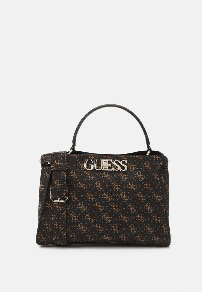 Guess - UPTOWN CHIC TURNLOCK SATCHEL - Håndveske - brown