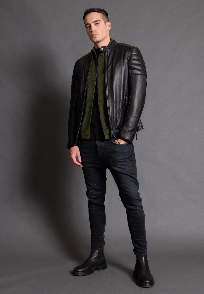 Tigha - ASHTON - Leather jacket - black