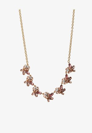 PCMADDELINA STONE NECKLACE - Collana - gold coloured/ash rose/champagne