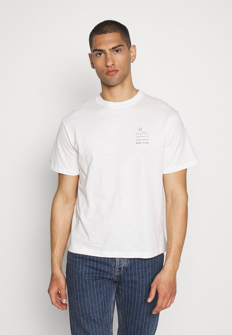Pepe Jeans - SEWARD - Print T-shirt - optic white