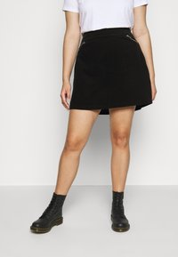 New Look Curves - ZIP SKIRT - A-line skirt - black - 0
