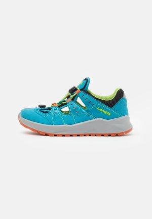 ARIOSO JUNIOR UNISEX - Walking sandals - türkis/limone
