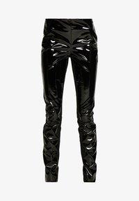 FAUX PATENET LEGGINGS - Leggings - Trousers - black