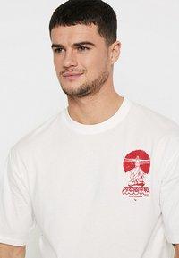 Only & Sons - ONSJAKO BOXY TEE  - Print T-shirt - white - 4